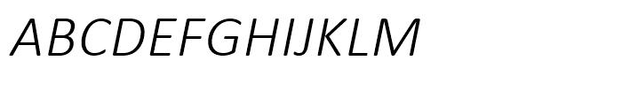 Calibri Light Italic Font UPPERCASE