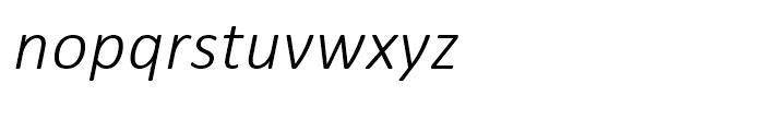 Calibri Light Italic Font LOWERCASE