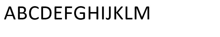 Calibri Regular Font UPPERCASE