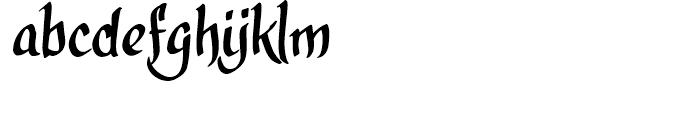 CalligraPhillip Regular Font LOWERCASE