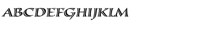 Calligraphica LX Italic Font UPPERCASE