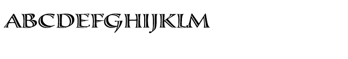 Calligraphica Regular LX Font UPPERCASE