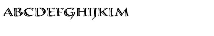 Calligraphica Regular SX Font UPPERCASE