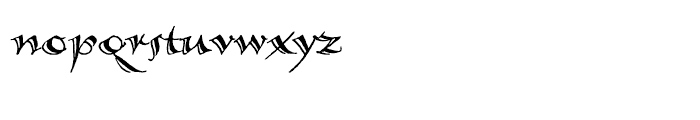 Calligraphica Regular SX Font LOWERCASE