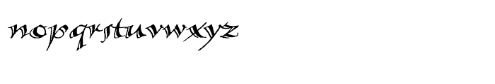 Calligraphica SX Italic Font LOWERCASE