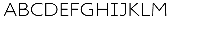 Cambridge Round Light Expanded Font UPPERCASE
