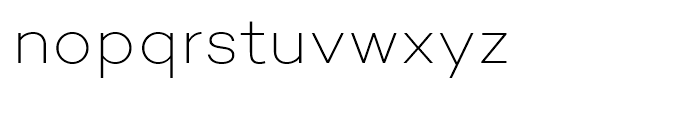 Campton Extra Light Font LOWERCASE