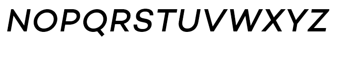 Campton Medium Italic Font UPPERCASE