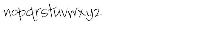 Camy Light Narrow Font LOWERCASE