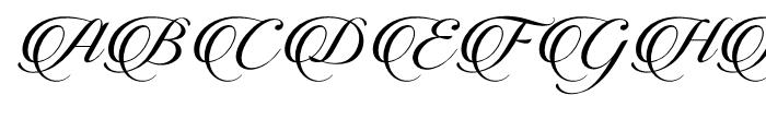 Candlescript Pro Regular Font UPPERCASE