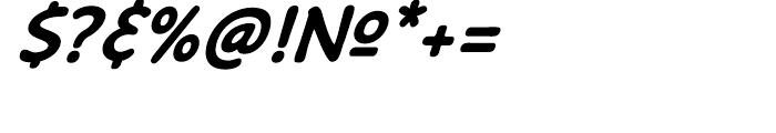 Caper Comic Bold Italic Font OTHER CHARS