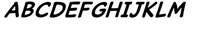 Caper Comic Bold Italic Font UPPERCASE