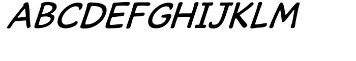 Caper Comic Italic Font UPPERCASE