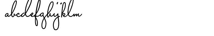 Capistrano BF Regular Font LOWERCASE