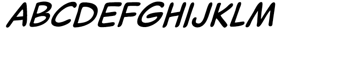 Captain Comic Italic Font LOWERCASE