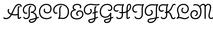 Carabelle Regular Font UPPERCASE