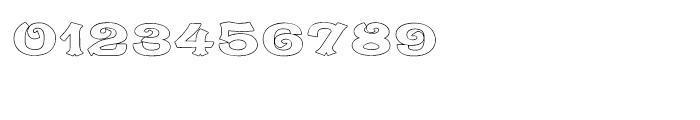 Caractere Doublet Outline Regular Font OTHER CHARS