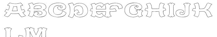 Caractere Doublet Outline Regular Font UPPERCASE