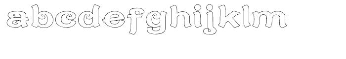 Caractere Doublet Outline Regular Font LOWERCASE