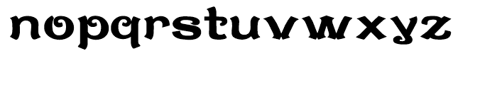 Caractere Doublet Regular Font LOWERCASE