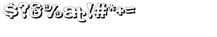 Caractere Doublet Shadow Regular Font OTHER CHARS