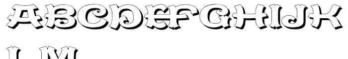 Caractere Doublet Shadow Regular Font UPPERCASE