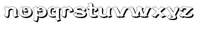 Caractere Doublet Shadow Regular Font LOWERCASE