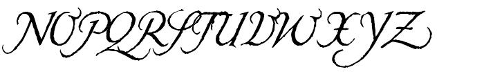 Carmilla Regular Font UPPERCASE