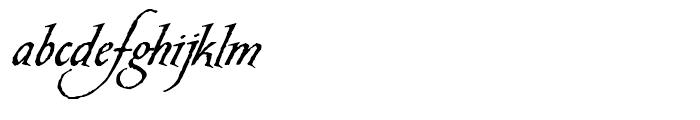 Carmilla Regular Font LOWERCASE