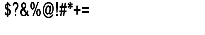 Carnova SemiBold Narrow Font OTHER CHARS