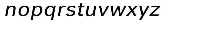 Carnova Wide Oblique Font LOWERCASE