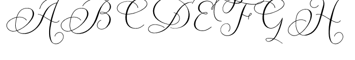 Carolyna Curvy Font UPPERCASE