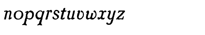 Caslon Antique Italic Font LOWERCASE