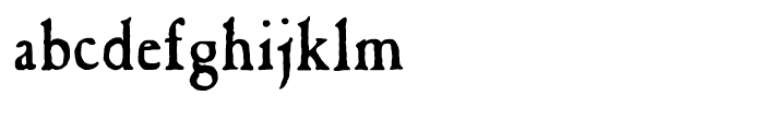 Caslon Antique Regular Font LOWERCASE