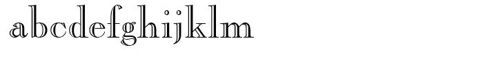 Caslon Openface Regular Font LOWERCASE