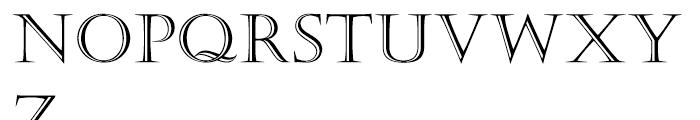 Castellar Roman Font LOWERCASE