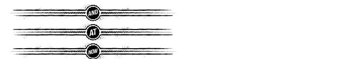 Castor Catchword Dividers Font UPPERCASE