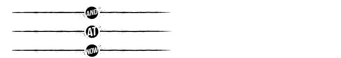 Castor Catchword Dividers Font LOWERCASE