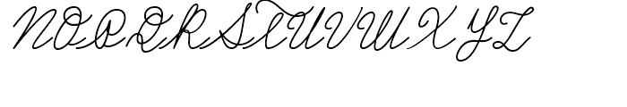 Castro Script Regular Font UPPERCASE