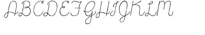 Catalina Script Light Italic Font UPPERCASE