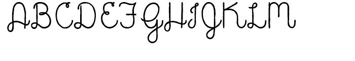 Catalina Script Font UPPERCASE