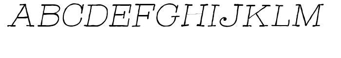 Catalina Typewriter Light Italic Font UPPERCASE