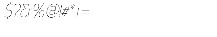 Cavole Slab Thin Italic Font OTHER CHARS