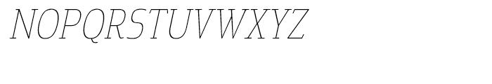 Cavole Slab Thin Italic Font UPPERCASE