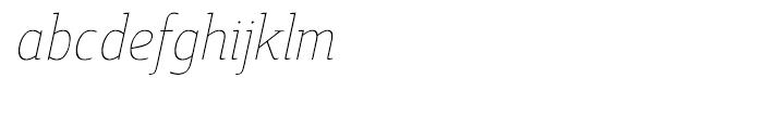 Cavole Slab Thin Italic Font LOWERCASE