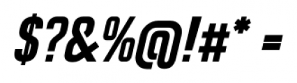 CA Geheimagent Bold Italic Font OTHER CHARS