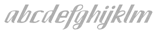 CA SpyRoyal Line Font LOWERCASE