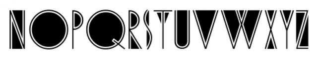 Cafe Society JNL Regular Font UPPERCASE