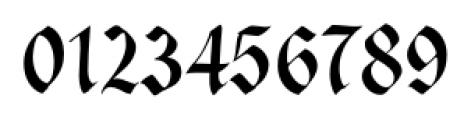 Cal Fraktur Modern Regular Font OTHER CHARS