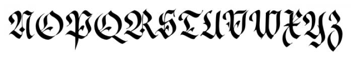 Cal Fraktur Modern Regular Font UPPERCASE